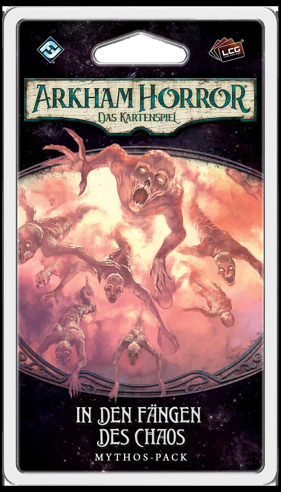 Das Mythos Pack In den Fängen des Chaos zugehörig zur Arkham Horror LCG Erweiterung Der gebrochene Kreis