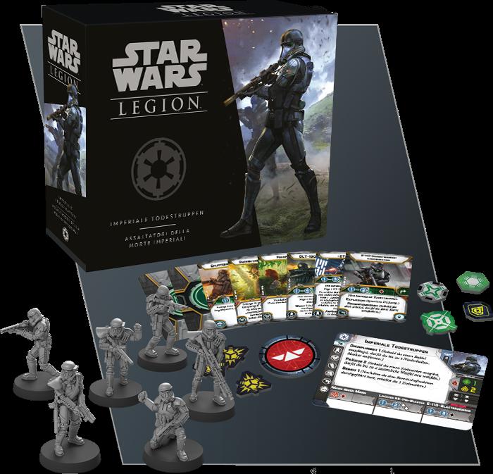 Boxinhalt der Imperiale Todestruppen Einheiten-Erweiterung für Star Wars Legion