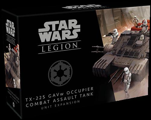 Box in der sich die TX-225 GAVw Besatzer Kampfangriffspanzer Einheiten-Erweiterung für Star Wars™: Legion befindet