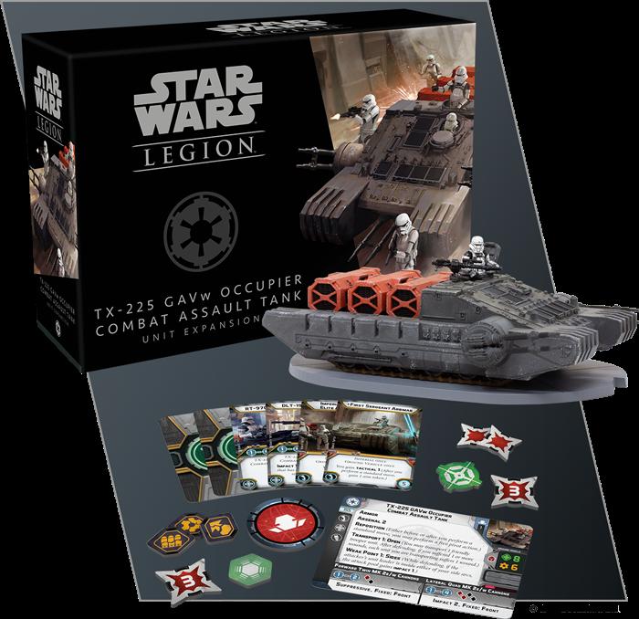 Boxinhalt der TX-225 GAVw Besatzer Kampfangriffspanzer Einheiten-Erweiterung für Star Wars™: Legion