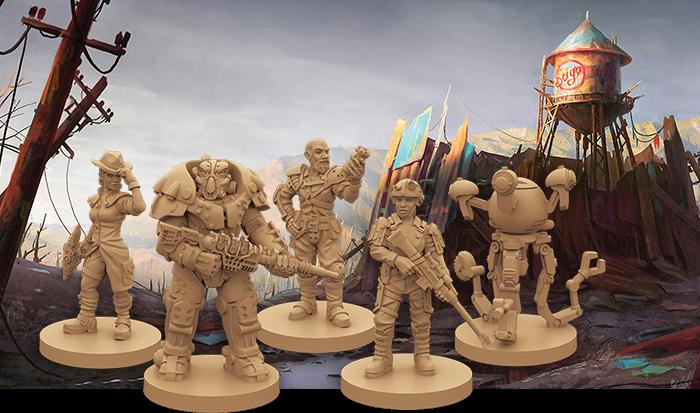 Miniaturen Fallout Brettspiel
