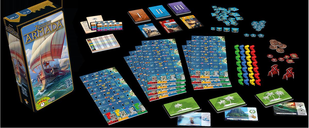 Image result for 7 wonders armada game repos